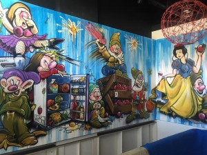 JaMm Bar and Dining Graffiti Feature Wall - By Open Projects - Gold Coast / Brisbane Shopfitting
